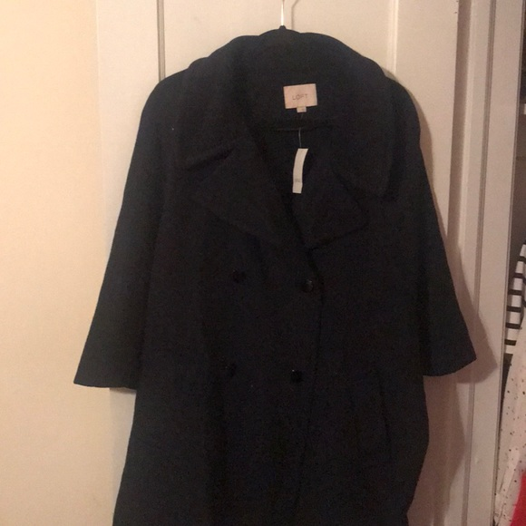 LOFT Jackets & Blazers - Loft Navy Blue Cape Coat - NWT - Size L